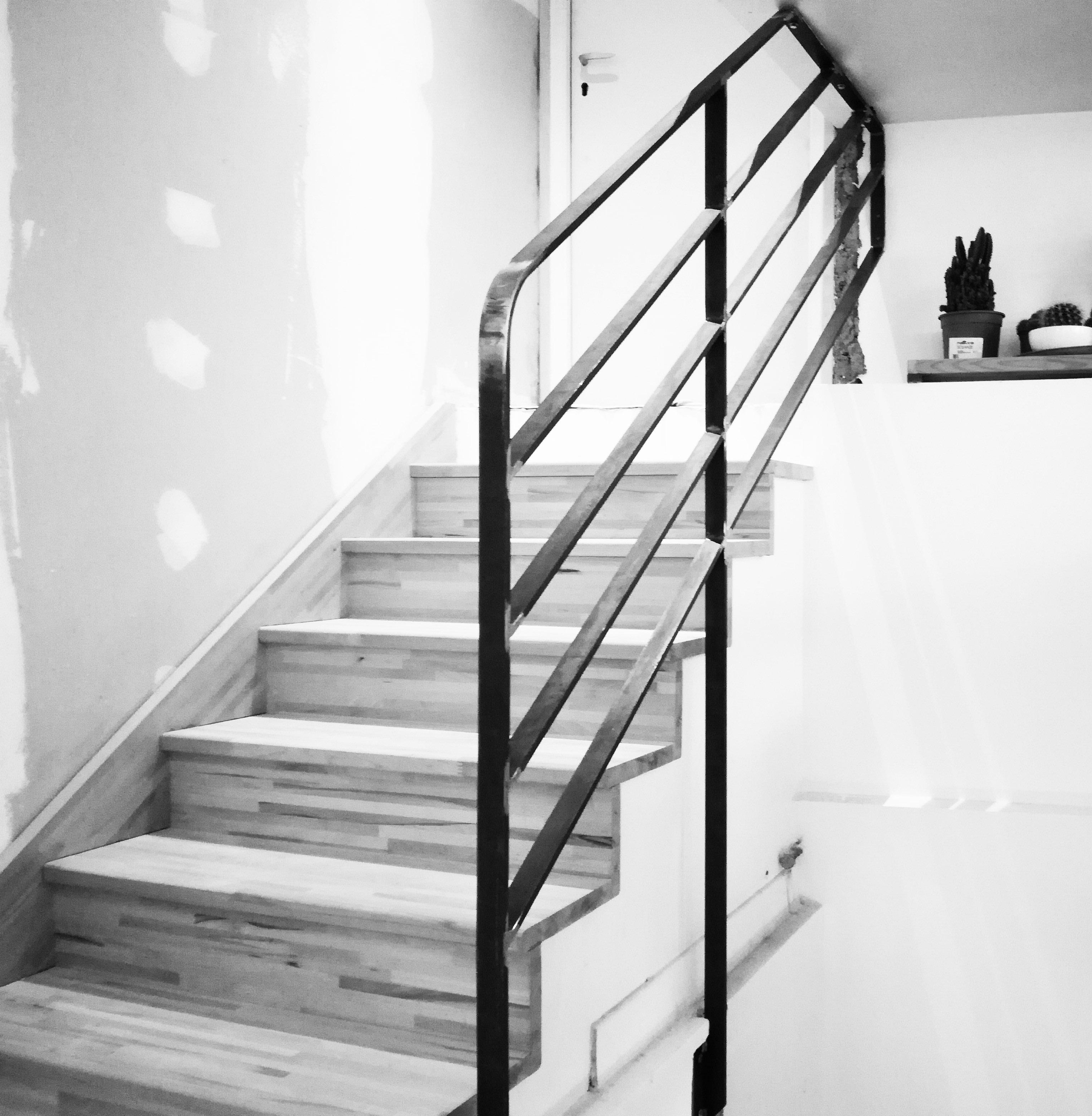 Garde-corps pour sécuriser un escalier