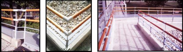 Rampe et garde-corps acier et bois