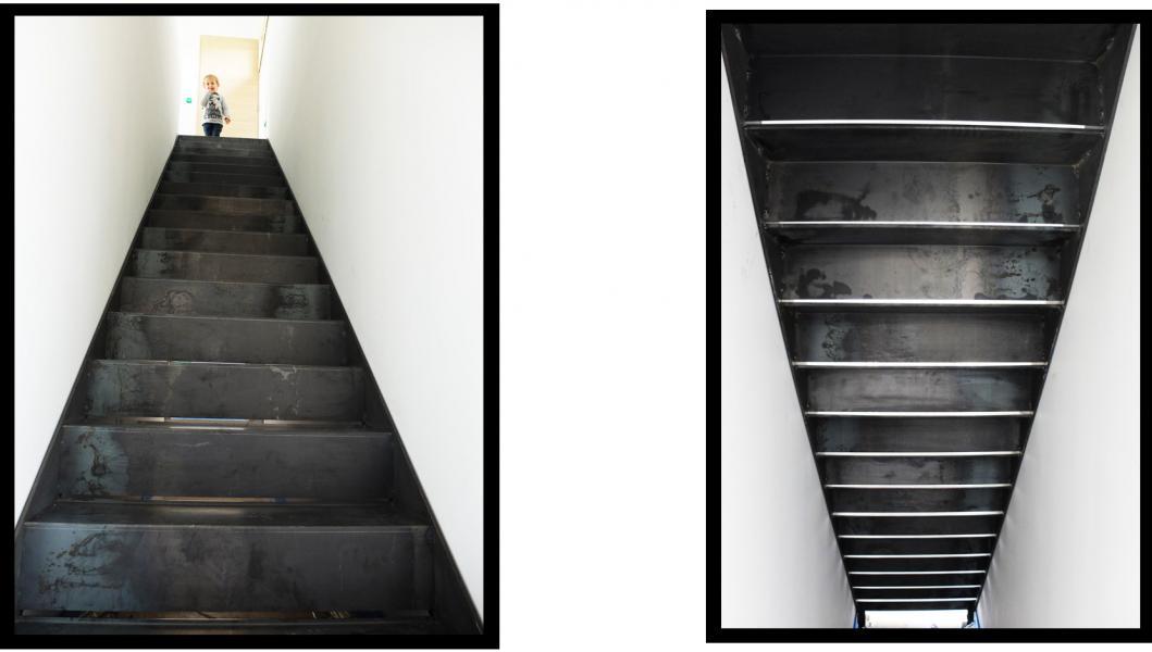 Escalier en tôle brute